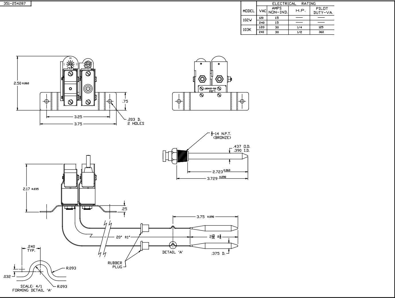 Pressure Switch Diagram Manual Reset Pressure Switch Diagram