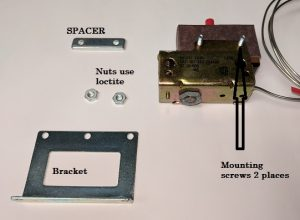 Capillary Thermostat Mounting Hardware